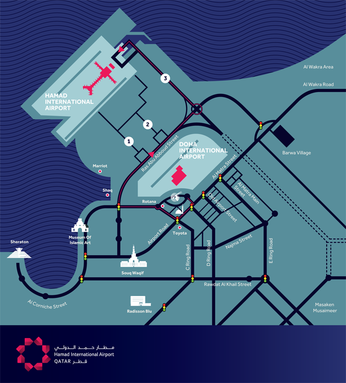 New Doha International Airport Map Maps | Hamad International Airport