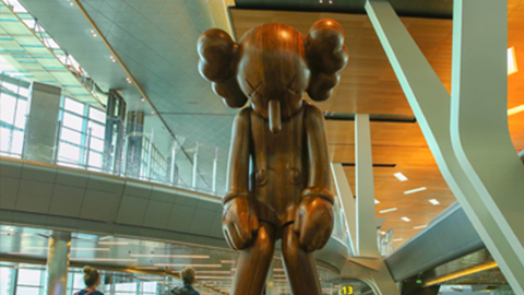 Small Lie By Kaws Hamad International Airport
